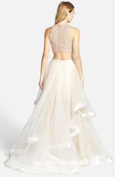 Terani Couture Beaded Top & Organza Two-Piece Ballgown | Nordstrom