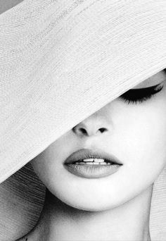 Beautiful woman, makeup, composition - white and black ~