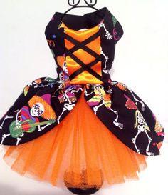 Dog fancy dress, Halloween witches dress with net petticoat pretty dress   eBay