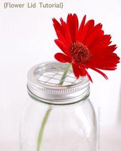DIY Mason Jar Flower Frog - Mason Jar Crafts Love