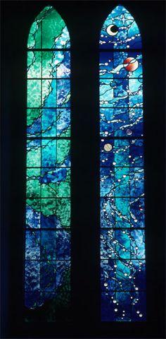 Days of the Creation.  Paul Lucky.  Sherbook St. Gilbert's, Scottland.    ©2010 Susan Bradbury Stained Glass Design Partnership