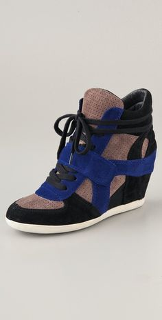 Wedge sneakers - inspired by sports @shopbop