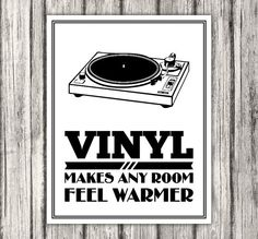 Vinyl Record Vinyl Makes Any Room Feel Warmer by BentonParkPrints