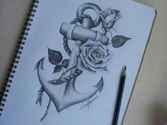 Anchor tattoo with rose - Tattoos Life Foot Tattoos, Cute Tattoos, Beautiful Tattoos, Body Art Tattoos, New Tattoos, Tatoos, Shaded Tattoos, Tattoo Spots, Incredible Tattoos