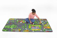 Transform a playroom floor into an imagination-stoking surface with a play rug that comes in six themes. - Best Rugs - Ideas of Best Rugs - Transform a playroom floor into an imagination-stoking surface with a play rug that comes in six themes. Kids Learning Toys, Toddler Learning, Playroom Flooring, Childrens Rugs, Classroom Furniture, Best Kids Toys, Cool Rugs, Learning, Quartos