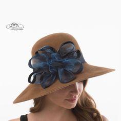 Elliot Oval Brim Hat by Christine A. Moore Kentucky Derby e2f542658b5e