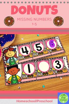 These Donuts Missing Numbers 0-5 are the perfect addition for learning in your Math Centers. These activities are engaging with their challenging content! Your 3-4 year old kids will enjoy learning about Donuts and numbers with this time saving resource. Numbers Preschool, Preschool Math, Number Identification, Morning Activities, Number Sequence, Number Activities, Time Saving, Number Sense, 4 Year Olds