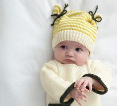 Modèle bonnet bicolore Layette - Modèles Layette - Phildar