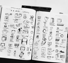 Finished the icon library pages - can you find the sneaky kitty? #bujo…