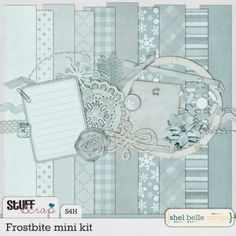 January BAK: Frostbite mini kit by Shel Belle Scraps
