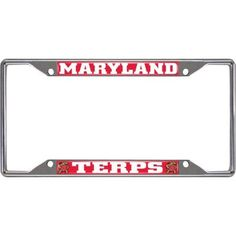 university of maryland license plate frame silver - Diploma Frames Walmart