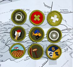 Merit Badges design concept: economy ( abstracting - taking out any unnecessary details and going for the essence ) Logos