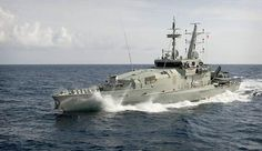 HMAS Wollongong, an Armidale class patrol boat, on patrol along Australian maritime borders in the Arafura sea for Operation Resolute.