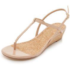 Designer Clothes, Shoes & Bags for Women Low Wedge Sandals, Nude Sandals, Nude Shoes, Patent Shoes, Leather Sandals, Patent Leather, Shoes Sandals, Splendid Shoes, Shoe Closet
