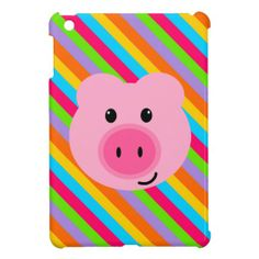 Cute Pink Pig Rainbow Stripes iPad Mini Case In our offer link above you will seeReview          	Cute Pink Pig Rainbow Stripes iPad Mini Case lowest price Fast Shipping and save your money Now!!...