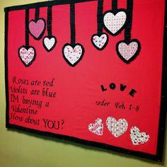 Valentine gram bulletin board