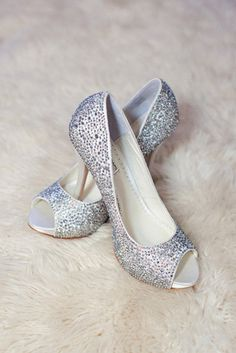 I'm absolutely sure that sparkly wedding shoes are one of those things that never come out of style because they are actual all year round – you can wear Sparkly Wedding Shoes, Bridal Shoes, Sparkly Shoes, Peep Toes, Cinderella Shoes, Glitz And Glam, Silver Shoes, Trendy Outfits, Trendy Clothing