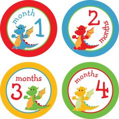 Baby Month Stickers Baby Monthly Stickers by LittleLillyBugDesign, $8.00