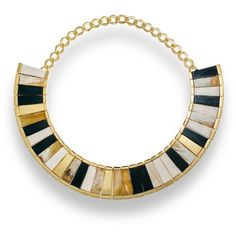 Hissia Saba Ebony Choker ($2,377) ❤ liked on Polyvore featuring jewelry, necklaces, gold, colorful necklace, choker necklace, 18 karat gold jewelry, multi colored necklace and tri color jewelry