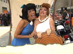 """Wilmaaaaa! Kathie Lee and Hoda went pre-historic as Betty and her best friend from """"The Flintstones."""""""