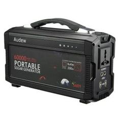 AUDEW Powerhouse Portable Generator Power Source with AC Silent Power Inverters AC & USB Output Supply for Camping Emergency Backup - Power Generators - Ideas of Power Generators Battery Generator, Portable Generator, Solar Energy Panels, Best Solar Panels, Solar Panel Installation, Solar Power System, Solar Charger, Ac Power, Power Energy