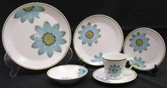So pretty! Vintage Noritake Progression China 6 Piece Up SA Daisy Place Setting WS2403