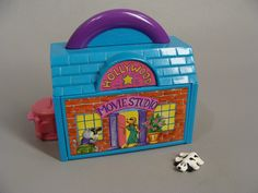 $19.00 1995 Pound Puppies HOLLYWOOD MOVIE STUDIO. Miniature Play Set. with 1 Pound Puppy. Like Polly Pocket. Polly Pocket Clone. 80s 90s Retro Toys by wardrobetheglobe on Etsy