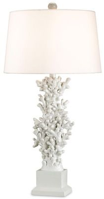 Stylized coral motif finished with a glossy white lacquer