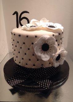 Zwart wit taart,