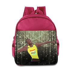 MYKKI Usain Bolt Children Personalize Bag Pink ** To view further for this item, visit the image link.