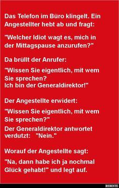 Das Telefon im Büro klingelt.. | DEBESTE.de, Lustige Bilder, Sprüche, Witze und Videos