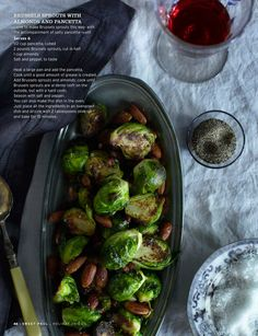 Sweet Paul Magazine - Holiday 2010 - Thanksgiving {Brussels Sprouts with Almonds and Pancetta}
