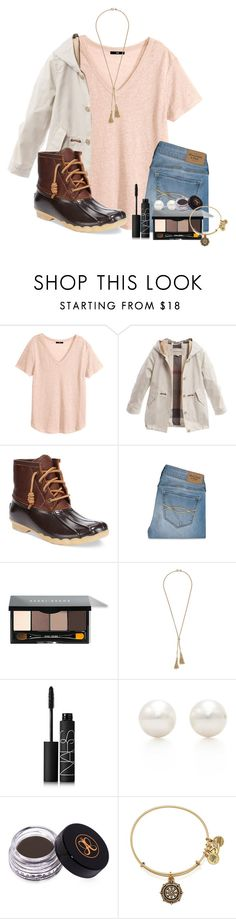 """when items you haven't even liked show up in liked items"" by ellababy13 ❤ liked on Polyvore featuring H&M, Burberry, Sperry Top-Sider, Abercrombie & Fitch, Bobbi Brown Cosmetics, J.Crew, NARS Cosmetics, Tiffany & Co., Anastasia Beverly Hills and Alex and Ani"