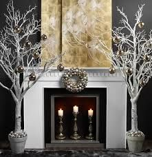 Image result for white faux fireplace christmas mantel ideas