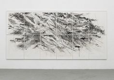 Auguries 2010 87 x 180 in. (221.0 x 457.2 cm) 12-panel aquatint with spit bite (from 48 plates) Julie Mehretu