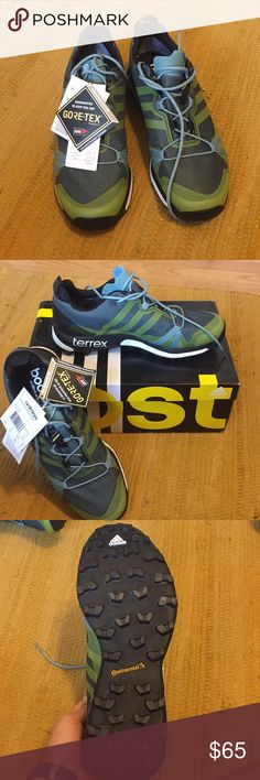 Adidas Terrex Agravic GTX W Hiking shoes and trail running shoes! They are made of Gore-Tex and will keep your feet dry in the snow, rain, etc...  Never used shoes! I'm moving and cleaning out my closet. adidas Shoes Athletic Shoes