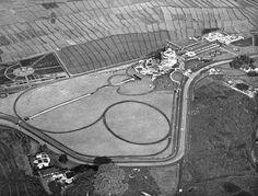 Aerial of Villa Isola, 1930s