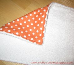 MADE: Diy Easy Burp Cloths - I can't believe I successfully completed a sewing project.  They look great.