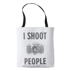 shoot people funny text photo camera photographer tote bag - accessories accessory gift idea stylish unique custom