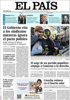 Los Titulares y Portadas de Noticias Destacadas Españolas del 4 de Mayo de 2013 del Diario El País ¿Que le parecio esta Portada de este Diario Español?