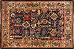 This hand knotted pile rug is made using natural dyes and handspun wool. This rug is tightly woven with around 120 kpi. Weaving takes place in the northern White Crane, Oriental Rugs, Tribal Rug, Bohemian Rug, Weaving, Carpet, The Incredibles, Wool, Antiques