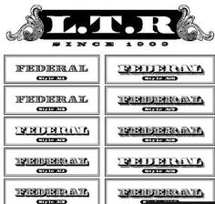 Quality Graphic Resources: Letterror - Federal Font