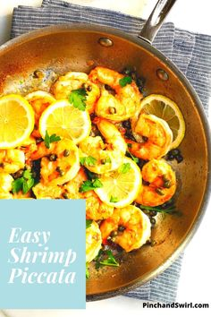 Shrimp Piccata is one of those easy, healthy recipes that's dinner party elegant and weeknight simple! Made with tender shrimp and fresh lemon all tossed in a creamy garlic butter and caper lemon sauce! Skip the cornstarch coating to make it keto diet friendly. Easy Summer Meals, Healthy Summer Recipes, Easy Dinner Recipes, Appetizer Recipes, Vegetarian Recipes, Roast Broccoli And Cauliflower, Healthiest Seafood, Lemon Sauce, Vegetarische Rezepte