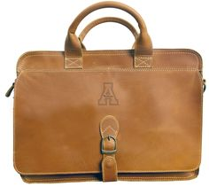 Canyon Leather Briefcase - Tan