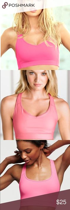 VSX The Player crossback sports bra, size Small VSX The Player by Victoria's Secret crossback sports bra in hot pink. Size small. In very good, gently used condition. No stains, holes, etc. From smoke- and pet-free home. Victoria's Secret Intimates & Sleepwear Bras
