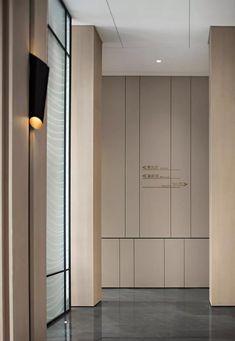 32 Ideas wall paneling design hotel for 2019 Lobby Interior, Office Interior Design, Office Interiors, Interior Architecture, Hotel Hallway, Hotel Corridor, Cheap Interior Wall Paneling, Modern Chinese Interior, Hospital Design