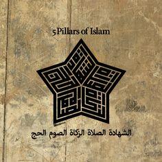 5 Pillars of Islam Kufi script designed by CITAREKA