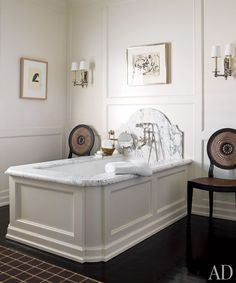 """Bathtub with a Marble """"Headboard"""" 