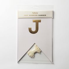 """【My Mind's Eye】Fancy """"Just Married""""Letter Banner 