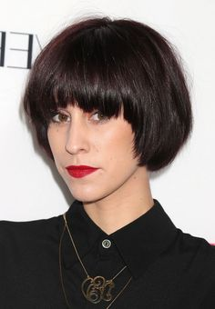 Devin Star Tailes Short Straight Bowl Cut with Thick Bangs